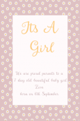 Birth Announcement Digital Palette 16