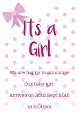 Birth Announcement Digital Palette 21