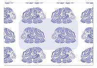 Folded Note Cards Envelope - Elephant