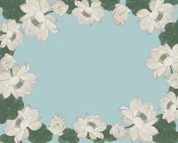 Flat Note Cards Envelope - Lotus Blooms