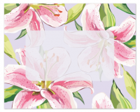 Flat Note Cards Envelope - Lilies
