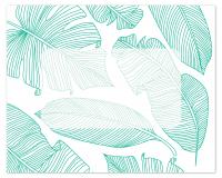 Flat Note Cards Envelope - Tropical Leaf