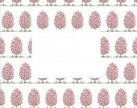 Flat Note Cards Envelope - Tree in Bloom