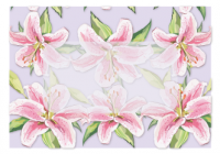 Folded Note Cards Envelope - Lilies