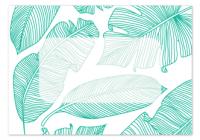 Folded Note Cards Envelope - Tropical Leaf