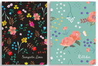 Hard Cover Pocket Notebook - Floral