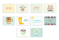 Basics (Set of 10 Mini Cards with Envelopes)