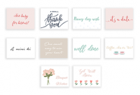 Just (Set of 10 Mini Cards with Envelopes)
