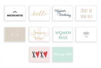 Love (Set of 10 Mini Cards with Envelopes)