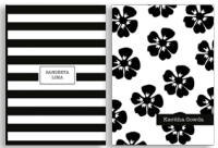 Hard Cover Pocket Notebook - Black & White