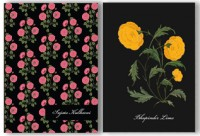 Hard Cover Pocket Notebook - Vintage Flowers