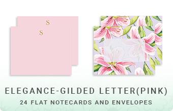 Elegance - Gilded Letter (Pink)