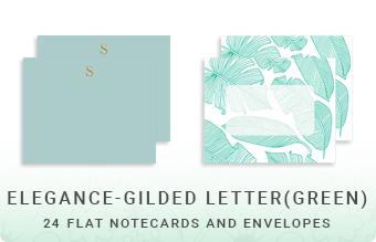 Elegance - Gilded Letter (Green)