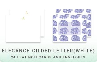 Elegance - Gilded Letter (White)