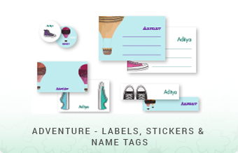 Adventure - Labels, Stickers & Name Tags