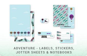 Adventure - Jottersheets, Stickers, Labels & Notebooks