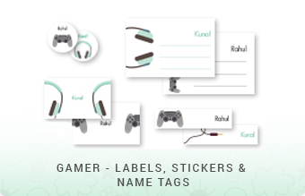 Gamer - Labels, Stickers & Name Tags