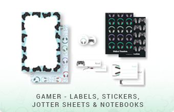 Gamer - Jottersheets, Stickers, Labels & Notebooks