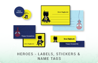 Heroes - Labels, Stickers & Name Tags