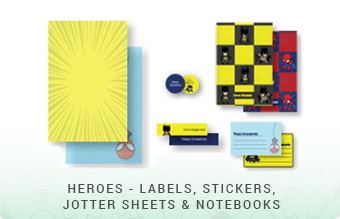 Heroes - Jottersheets, Stickers, Labels & Notebooks