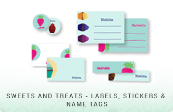 Sweets & Treats - Labels, Stickers & Name Tags