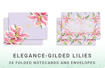 Elegance - Gilded Lilies